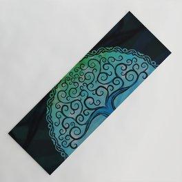 Tree of Life - Cool Blue Yoga Mat