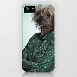 Chinese hairless crested dog iPhone Case