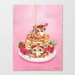 Three Pancake Deer Canvas Print