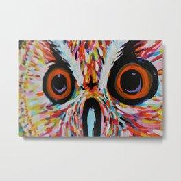 Electric Owl Eyes Metal Print