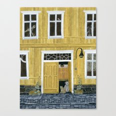 Yellow building Canvas Print