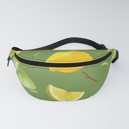 Watercolor Lemon & Leaves 6 Fanny Pack
