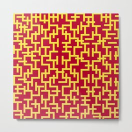 Colorful Maze II Metal Print