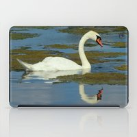 swan iPad Cases featuring Swan by tracy-Me