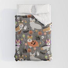 Corgi halloween costume ghost mummy vampire howl-o-ween dog gifts Duvet Cover