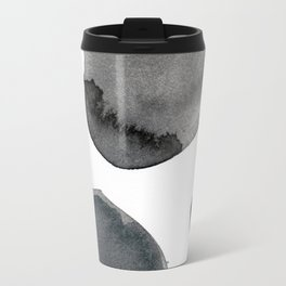 Standing Stones Blue Grey Abstract Art Travel Mug