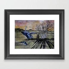 Blue Breaching Whale  Framed Art Print