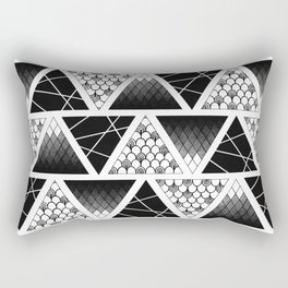 Zentangle Triangles Rectangular Pillow