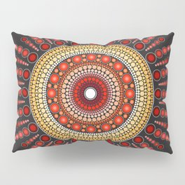 Red Mandala Pillow Sham