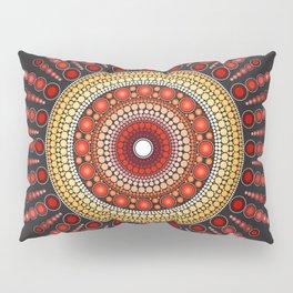 Red Mandala Pillow Sham