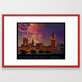 Houses of Parliament - London Framed Art Print