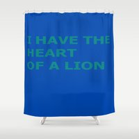 jay fleck Shower Curtains featuring Jay Lionheart by TheseRmyDesigns