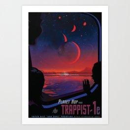 NASA Retro Space Travel Poster #13 - TRAPPIST-1e Art Print