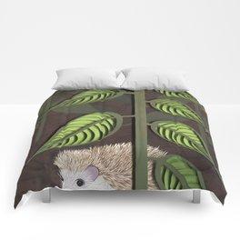 hedgehog - paper art print Comforters