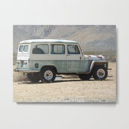 Desert Traffic Metal Print