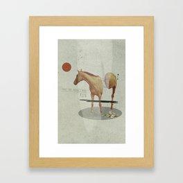Take The Money and Run Framed Art Print