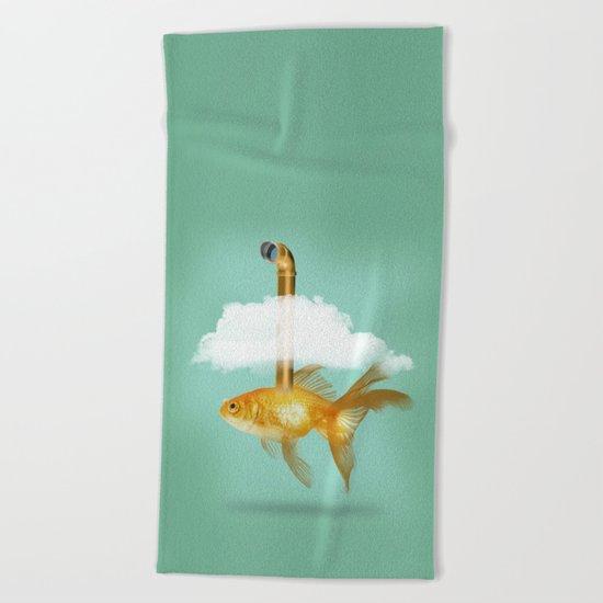 Periscope Goldfish Beach Towel