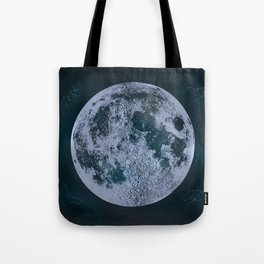 Large Night Sky Moon Print, by Christy Nyboer Tote Bag