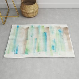 180713 Watercolor Play 1| Watercolor Brush Strokes Rug
