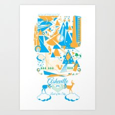 Land of The Sky. Art Print