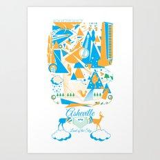 Land of The Sky. Art Print