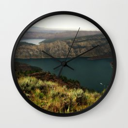 Houseboat On Flaming Gorge Reservoir Wall Clock