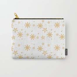 Gold Snowflakes 4 Carry-All Pouch