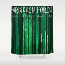 The Forbidden Forest Shower Curtain