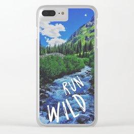 RUN WILD Clear iPhone Case