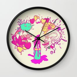 Give Me Lippy Wall Clock
