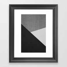 Concrete & Triangles II Framed Art Print