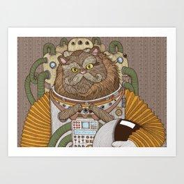 Commander Whiskers Art Print