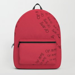 Oh Well My Love Backpack