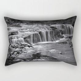 Ledge Falls, No. 4 bw Rectangular Pillow