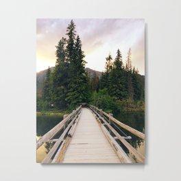 The Bridge to Pyramid Island Metal Print