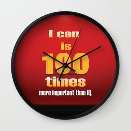 I can a Motivational Word Design Quote Wall Clock