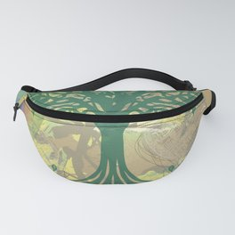 Color My World Green Fanny Pack