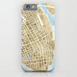 Charleston, South Carolina City Map Art Print iPhone Case