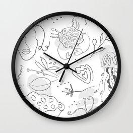 sea life line art Wall Clock