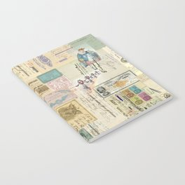 Quirky Documents pastel Patchwork Notebook