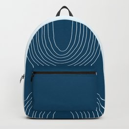 Hand drawn Geometric Lines in Midnight Blue 2 (Rainbow Abstraction) Backpack