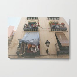 Barcelona Windows Metal Print