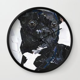 Theo the Pittie Wall Clock