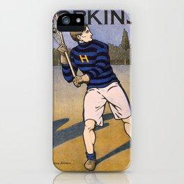 Vintage poster - Lacrosse iPhone Case