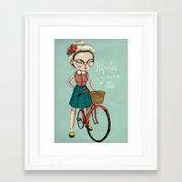 hipster Framed Art Prints featuring Hipster by Maripili