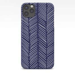 Indigo Herringbone iPhone Case