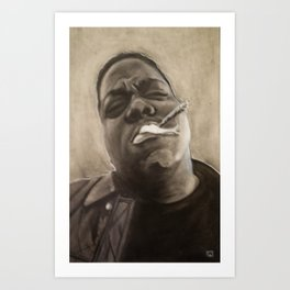 Biggie in Charcoal Art Print