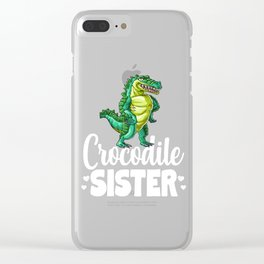 Crocodile Sister Alligator Reptile Animal Clear iPhone Case