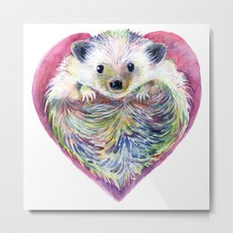 HedgeHog Heart by Michelle Scott of dotsofpaint studios Metal Print