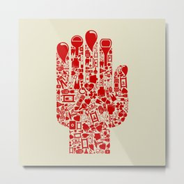 Hand medicine Metal Print